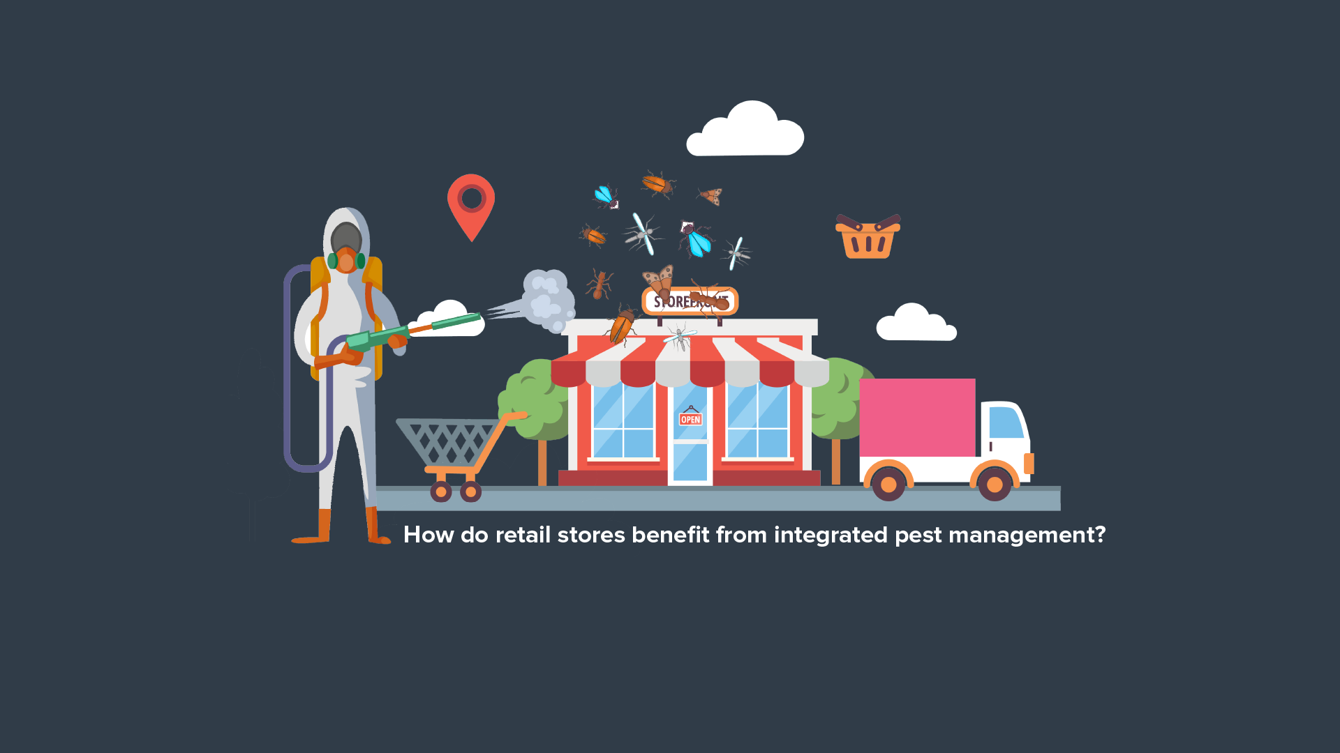 How do retail stores benefit from integrated pest management?